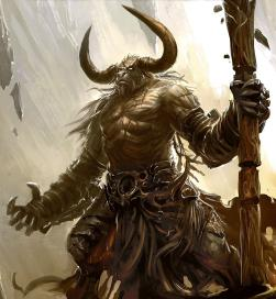 Minotaur dark dungeons dragons