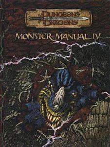 Monster Manual IV מבוכים ודרקונים 3.5 מגדיר מפלצות 4