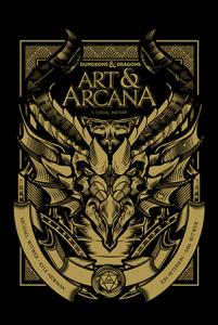 כריכת הגרסה הרגילה של Art & Arcana