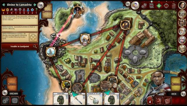 Pathfinder Adventures app map